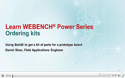 通过WEBENCH®Power Designer订购套件
