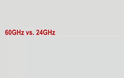 60GHz vs. 24GHz