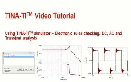 使用TINA-TI(TM)模拟器 -  ERC和分析类型