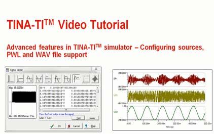 在TINA-TI(TM)模拟器中配置源
