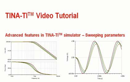 在TINA-TI(TM)模拟器中扫描参数