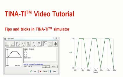TINA-TI(TM)模拟器的提示和技巧