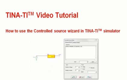 如何在TINA-TI(TM)模拟器中使用受控源向导