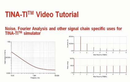 TINA-TI(TM)模拟器中的噪声,傅里叶分析和信号链内容