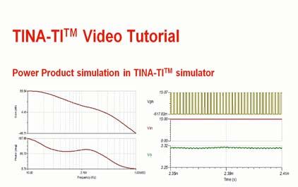 TINA-TI(TM)模拟器中的电源产品仿真
