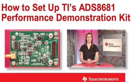 如何设置TI的ADS8681性能演示套件