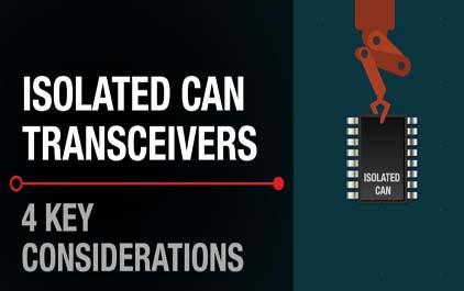 隔离式CAN收发器的关键考虑因素