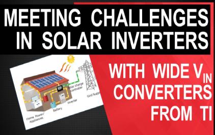 为太阳能逆变器应用设计宽输入DC / DC转换器