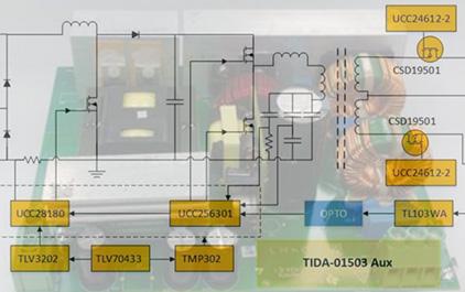 24V, 480W高效率AC/DC工业电源参考设计