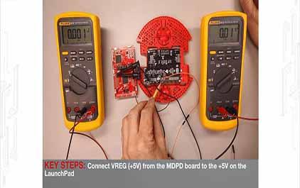 TI-RSLK 模块 5 - 实验视频 5.2 - 连接电机驱动器和配电板