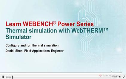 使用WebTHERM™模拟进行热模拟