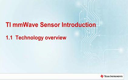 1.1   TI毫米波雷达技术介绍 - 技术概览