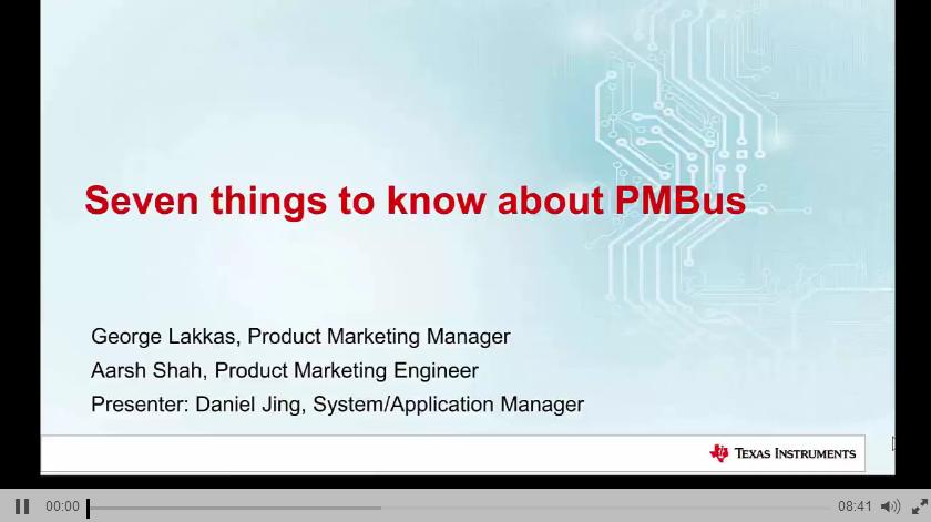 1.2 TI PMBus简介课程(一)
