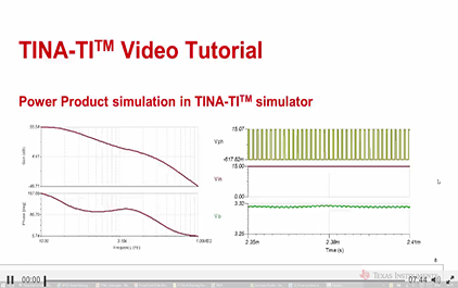 使用TINA-TITM仿真软件仿真电源产品