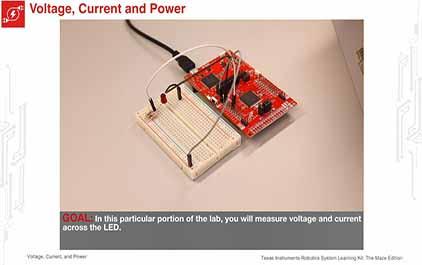 TI-RSLK 模块 2 - 实验视频 2.2 – LED (I,V) 响应曲线、指数关系