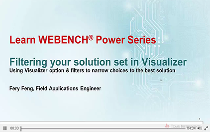 WEBENCH®Visualizer - 过滤
