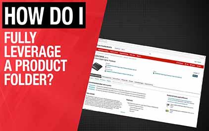 2.1如何充分利用产品文件夹?