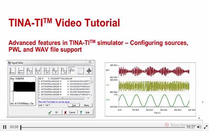 INA-TITM仿真软件的高级功能,配置资源,PWL和WAV文件的支持