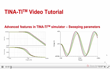TINA-TITM仿真软件的高级功能,横扫参数