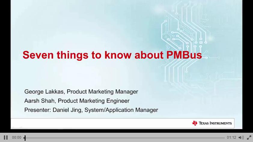 1.1 TI PMBus简介课程