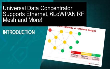 支持以太网,6LoWPAN RF等网络的通用数据集中器