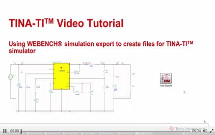 使用WEBENCH®仿真输出创建TINA-TITM仿真软件文件