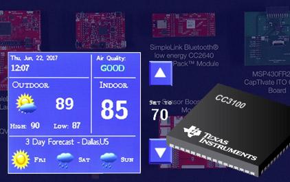应用于电容式触摸的ITO温控器