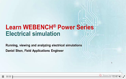 WEBENCH®电力设计中的电气刺激