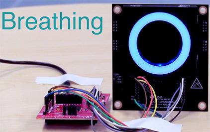 带有呼吸和旋转效果的LED光环解决方案介绍