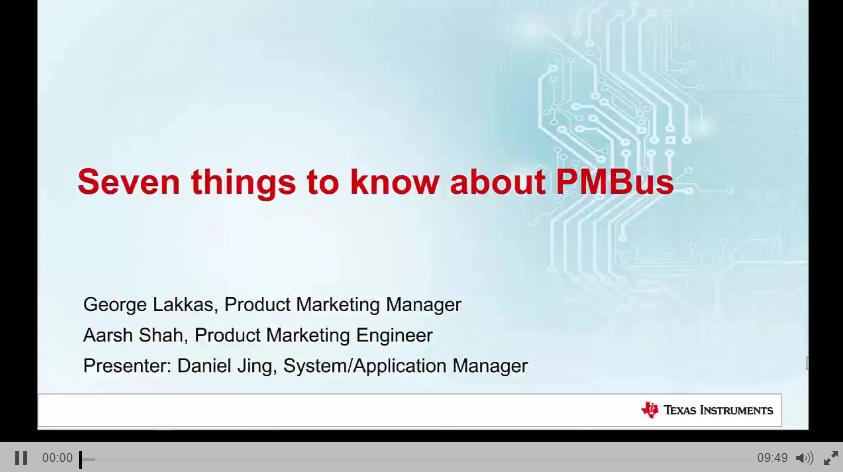 1.3 TI PMBus简介课程(二)