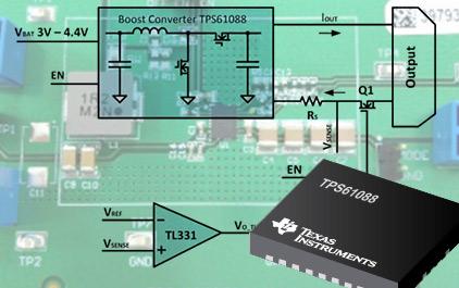 升压变换器TPS61088的输出短路保护方案