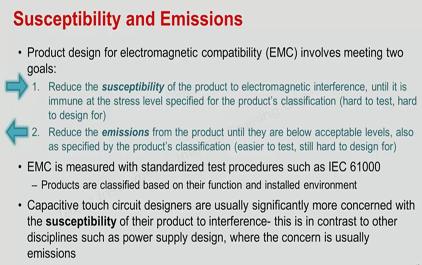 噪声抗扰度和EMC挑战简介以及CapTlvate外设功能,具有抗噪能力