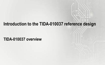 2.2 TIDA-010037概述