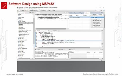 TI-RSLK 模块 4 - 实验视频 4.2 - 调试解决方案、可视化、断点、单步执行