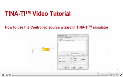 如何使用受控源向导TINA-TITM仿真软件