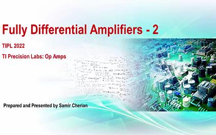 15.2 全差分放大器 — FDA的输入输出和共模