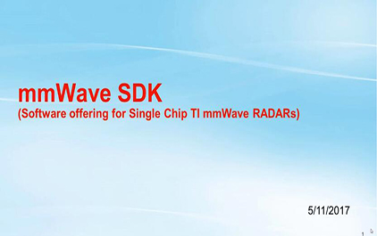 2.3 mmWave SDK简介