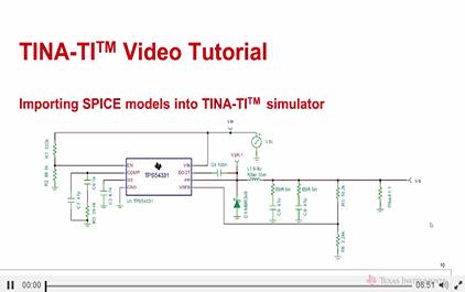 导入SPICE模型到TINA-TITM仿真软件- TINA-TI培训课程- TI在线培训手机版