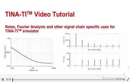在TINA-TITM仿真软件中使用噪音,傅立叶分析等信号链专用分析