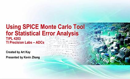 3.3 使用蒙特卡罗SPICE工具进行误差统计分析