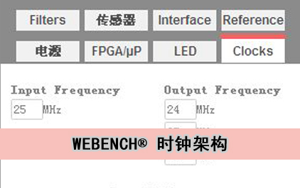 WEBENCH® 时钟架构