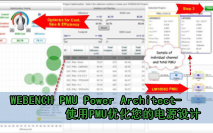 WEBENCH PMU Power Architect-使用PMU优化您的电源设计