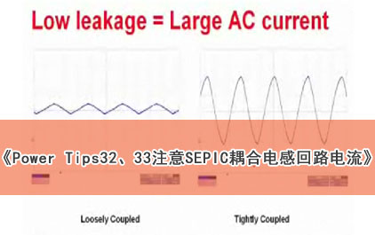 Power Tips 32 and 33: 注意SEPIC耦合电感回路电流