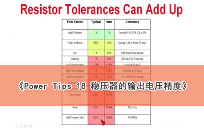 Power Tips 18: 稳压器的输出电压精度