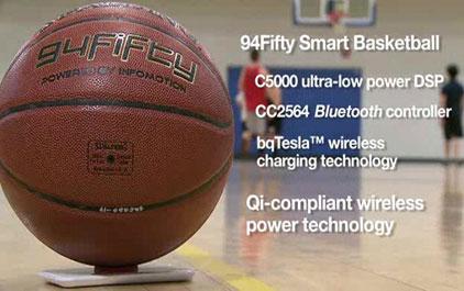 具有Qi无线充电功能的智能篮球